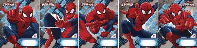 Тетр 12л скр А5 узк лин карт SM309/5-ЕАС полн УФ Spider-man Classic