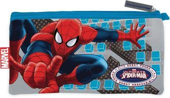 Пенал Spiderman неопреновый широкий 11 х 20,5 см
