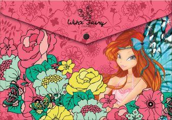 Пластиковая папка-конверт, с застежкой. Толщина - 0,15 мм. Печать на корпусе - полноцветная, офсетная. Размер 23,5 х 33 х 0,5 см Winx Fashion (Winx Fa
