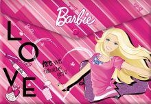 Пластиковая папка-конверт, с застежкой. Толщина - 0,15 мм. Печать на корпусе - полноцветная, офсетная. Размер 23,5 х 33 х 0,5 см Barbie