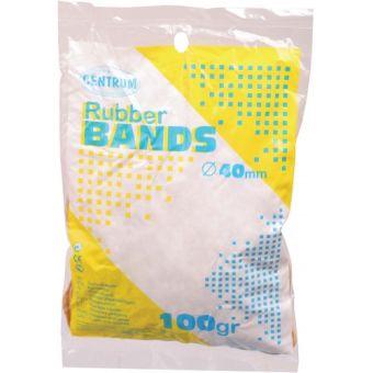 Резинки для денег 100г, d=40мм каучуковые с латексом (60%), цвет желтый.