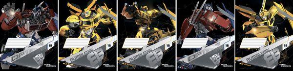 Тетрадь 18л линия Transformers картонная обложка выб УФ фольга