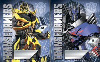 Тетрадь 12л клетка Transformers
