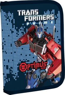 Пенал Transformers жесткий с наполнением 19 предметов