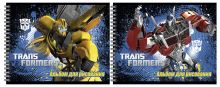 Альбом для рисования 40л даблспираль Transformers выб УФ фольга
