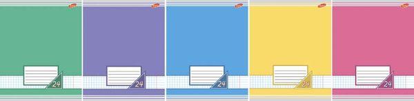 Тетрадь 24л линия Цветные фоны ВД лак