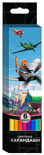 Цв. карандаши 6цв. шестигр.«Disney Самолеты» 2014