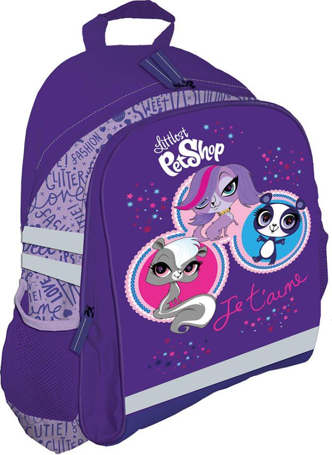 Рюкзак, мягкая спинка с вентиляционной сеткой. Размер 37,5 х 29,5 х 10,5 см Упак. 3//12 шт. Littlest Pet Shop