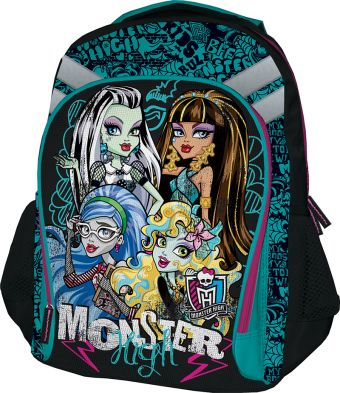 Рюкзак, мягкая спинка с вентиляционной сеткой. Размер 40 х 30 х 13 см Упак. 3//12 шт. Monster High