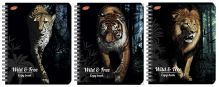 Тетр 96л Wсп А5 кл 7168/3-ЕАС полн УФ кругл Животные: Wild & Free