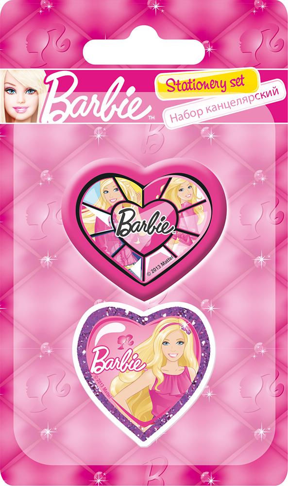 Набор канцелярский в блистере: точилка большая, ластик фигурный.  Размер 13,5 х 8 х 1,5 см Упак. 40/400 шт. Barbie