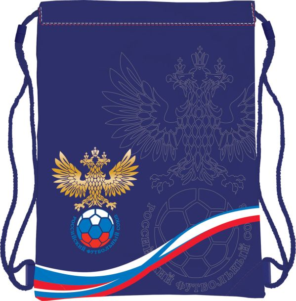 Школьная сумка-рюкзак для обуви. Размер43 х 34 см, упак. 12/24/96шт. Российский Футбольный Союз (РФС)