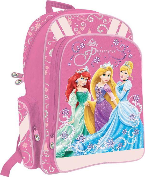 Рюкзак с эргономичной EVA-спинкой.  Размер 38 x 29 x 13 см Упак. 3//12 шт. Princesses