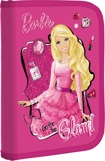 Пенал жесткий, с креплениями для канцелярских принадлежностей Размер 21 х 14 х 4 см Упак. 3//12 шт. Barbie