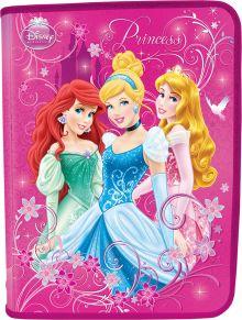 Папка для тетрадей. Молния с 3-х сторон. Толщина пластика: 0,5мм. Печать: CMYK 4+0 Размер 22,8 x 37,7 см Упак. 40 шт. Princesses