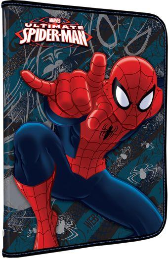 Папка для труда. Молния с 3-х сторон. Дополнительный вкладыш с креплениями для канцелярии. Толщина пластика: 0,5мм. Печать: CMYK 4+0. Spider-man Class