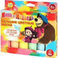 Мелки для асф. (6 шт. 10х2,5см)т.м. Маша и Медведь
