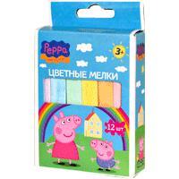 Peppa Pig - Мелки для асфальта (12 шт. 10х1см) т.м. Пеппа Пиг обложка книги
