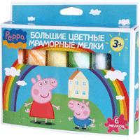 Peppa Pig - Мелки для асфальта (6 шт. 10х2,5см) т.м. Пеппа Пиг обложка книги