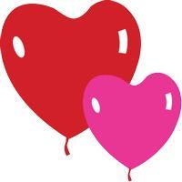 Шары сердце 100шт, 11