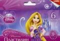 """Пластилин Disney """"Принцессы"""" 6 цветов, с европодвесом"""