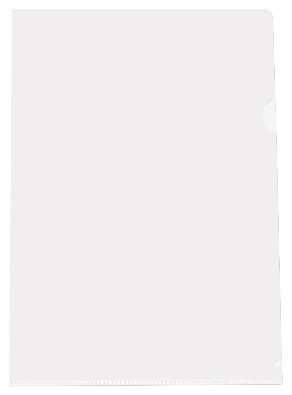 Папка-уголок (А4) 100шт. Semi-Clear Extra Light L-FILE (Прозрачный) папка уголок а4 funny bones пластик 0 18мм