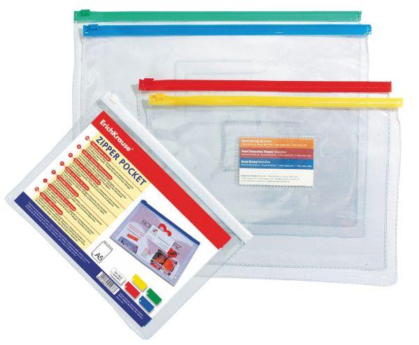 Пакет (B6) (128х182см) на гибкой молнии PVC Zip Pocket (Прозрачный)