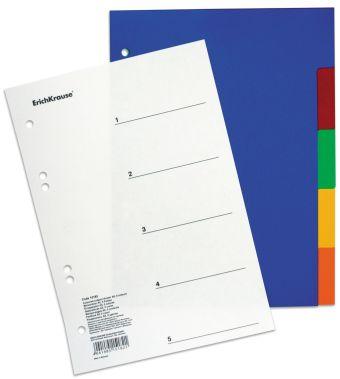Разделитель цветной (A5) 5 цветов Divider colored)