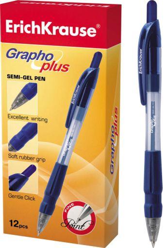 Ручка шариковая автоматическая GRAPHO PLUS (Синий)