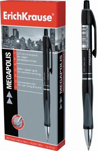 Ручка шариковая автоматическая MEGAPOLIS CONCEPT (Черный)
