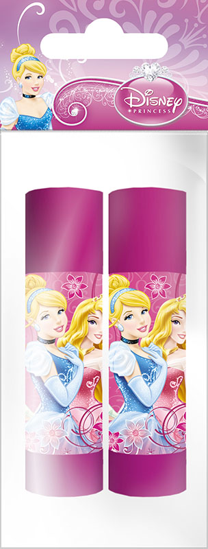 Набор клей-карандашей, 9 гр., 2 шт. Печать на корпусе - полноцветная. Упаковка - ПП-пакет, 4+0, с европодвесом. Размер 12 х 5 х 2 см, Princesses