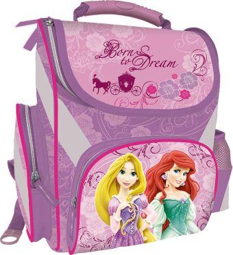 Рюкзак эргономичный, спинка - толстый поролон, усиление пластиком, жесткие боковые стороны. Размер 35 х 26,5 х 13 см Упак. 4 шт. Princesses