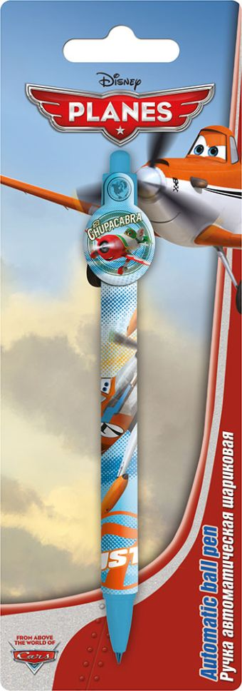 Ручка шариковая с фигурным клипом в блистере.  Размер 20 х 7 х 1,5 см Упак. 48/384 шт. Planes