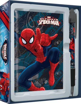 Набор канцелярский в подарочной коробке: ноутбук 7БЦ (внутр. блок печать 1+1), ручка автоматическая.  Размер 13 х 16 х 2 см Упак. 15/120 Spider-man Cl