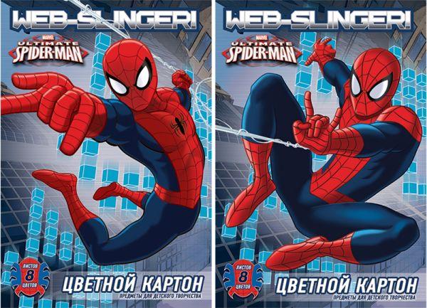 Карт цв д/дет тв  8цв  8л(2 мет) Папка 200*290 SM298/2-ЕАС Spider-man