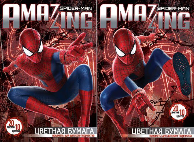 Бум цв д/дет тв 10цв 20л(4мет) Папка 200*290 SM2A7/2-ЕАС Spider-man Amaizing 2