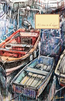 Блокнот. Рыбацкие лодки на отдыхе