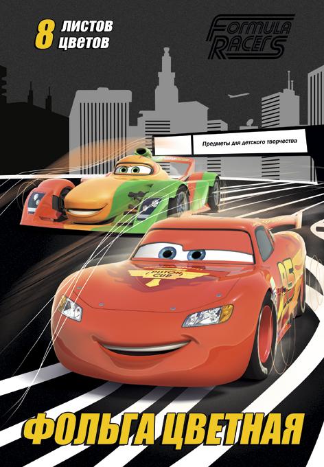 Фольга цветная, 170*245, 8л/8цв, скр., D3296-ЕАС Cars CRBBRT