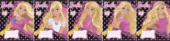Тетр 18л скр А5 кл B838/5-ЕАС выб УФ, тисн фольг Barbie