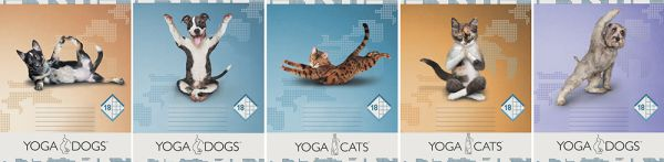 Тетр 18л скр А5 кл карт YD41/5-ЕАС полн УФ Yoga Dogs