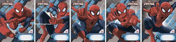 Тетр 12л скр А5 кл карт SM302/5-EAC полн УФ Spider-man