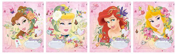 Тетр 12л скр А5 лин карт D2686/4-VQ Princesses