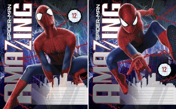 Тетр 12л скр А5 лин мел SM2A21/2-ЕАС Spider-man