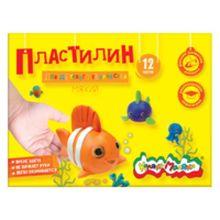 Пластилин Каляка-Маляка для детского творчества 12 цв. 180,00 г стек