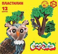 Пластилин Каляка-Маляка 12 цв. 180 г стек