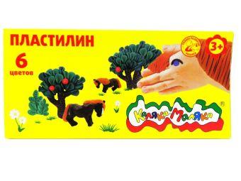 Пластилин Каляка-Маляка 6 цв. 90 г стек