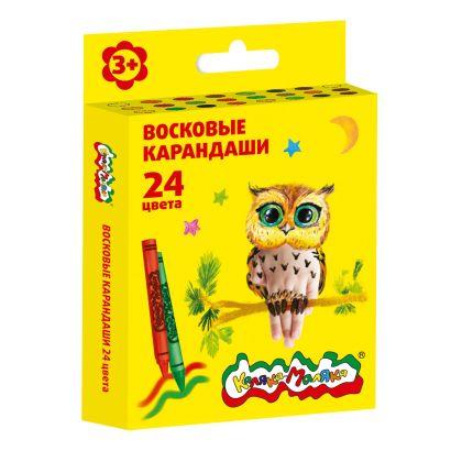 Набор воск. каранд. Каляка-Маляка 24 цв. круглые с заточкой - фото 1