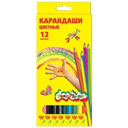 Набор цветн.каранд Каляка-Маляка 12 цв. шестигранные с заточкой - фото 1