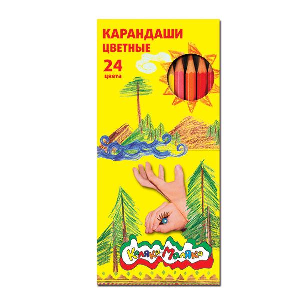 Набор цветн.каранд Каляка-Маляка 24 цв. шестигранные с заточкой упак. дисплей