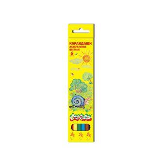 Набор цветн.каранд Каляка-Маляка 6 цв. шестигранные с заточкой акварельные